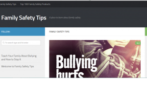 The Family Safety Tips website is based on a well searched keyword and giving tips to families about how to be safer.
