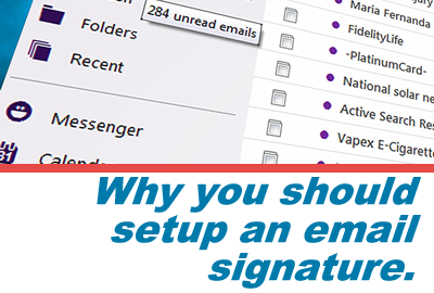 One Great Reason to Have an Email Signature