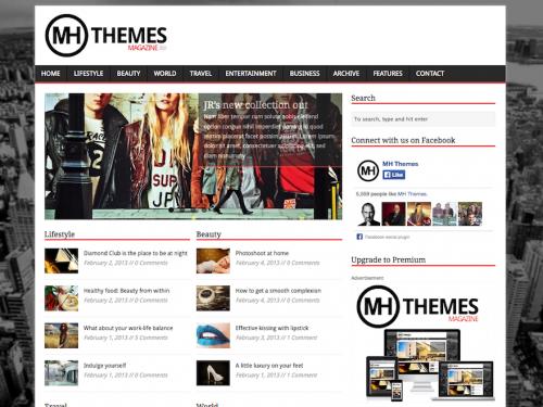 WordPress Theme Review of MH Magazine Lite a 4 Star Theme