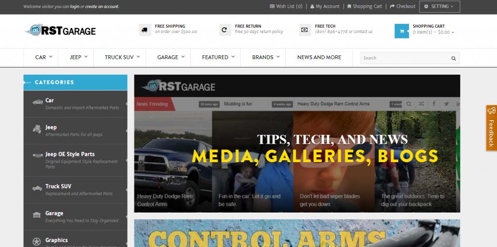 RSTGarage OpenCart Screen Shot
