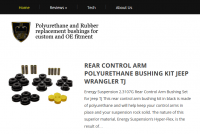 The Bushing King is a site dedicated to the sale of polyurethane bushings for the automotive industry. It is an example of a product specific affiliate site for the automotive industry.