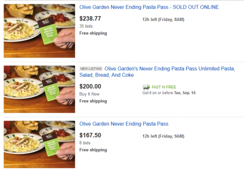 I Love the Olive Garden Marketing Idea of the Pasta Pass