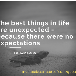 The best things in life are unexpected -(1)