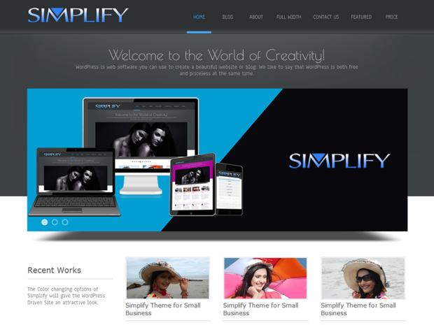 WordPress Theme Review of Simplify a 1 Star Theme