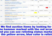 How we Keep Track of our Listings on eBay and Easily Relist Them